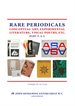 Catalog 302, part 1: A-L (2019): Rare Periodicals - Conceptual Art, Experimental Literature, Visual Poetry, etc.