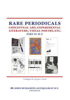 Catalog 302, part 2: M-Z (2019): Rare Periodicals - Conceptual Art, Experimental Literature, Visual Poetry, etc.
